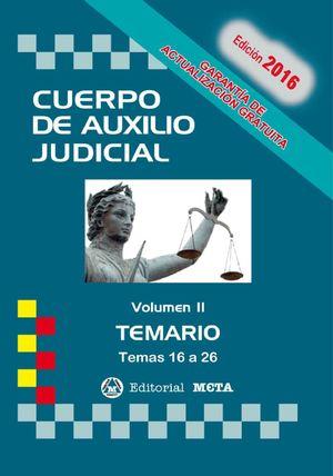 CUERPO DE AUXILIO JUDICIAL TEMARIO VOL. II