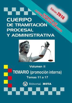 CUERPO DE TRAMITACION PROCESAL Y ADMINISTRATIVA TEMARIO VOL.II