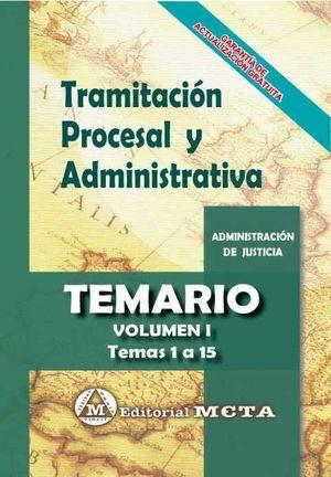 TRAMITACIÓN PROCESAL Y ADMINISTRATIVA TEMARIO VOL. I 2019