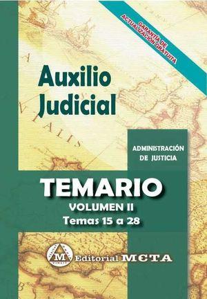 AUXILIO JUDICIAL TEMARIO VOL. II 2019