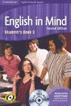 ENGLISH IN MIND FOR SPANISH SPEAKERS LEVEL 3 STUDENT'S BOOK WITH DVD-ROM 2ND EDI