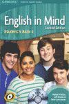 ENGLISH IN MIND FOR SPANISH SPEAKERS LEVEL 4 STUDENT'S BOOK WITH DVD-ROM 2ND EDI