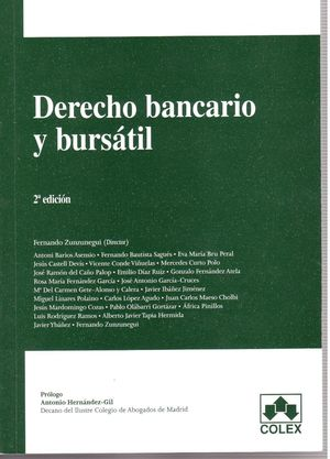 DERECHO BANCARIO Y BURSATIL 2ª ED.
