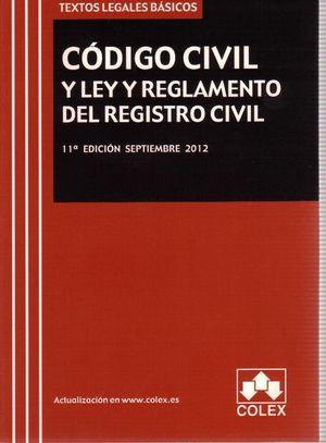CODIGO CIVIL Y LEY Y REGLAMENTO DEL REGISTRO CIVIL (2012)