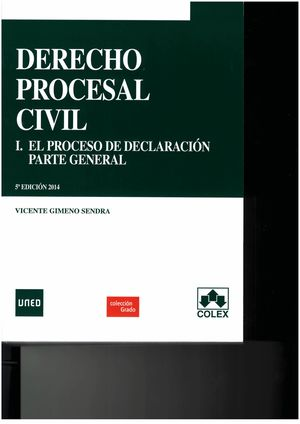 DERECHO PROCESAL CIVIL I. 5ª ED. PARTE GENERAL