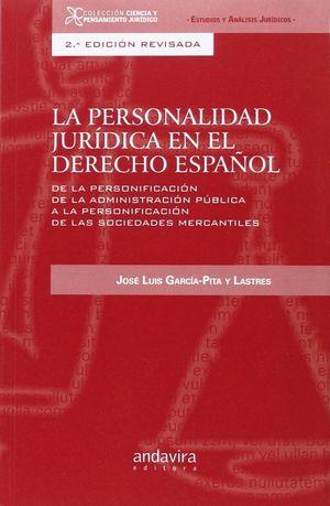 LA PERSONALIDAD JURIDICA EN EL DERECHO ESPAÑOL