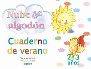 NUBE DE ALGODON CUADERNO DE VERANO 2 - 3 AÑOS