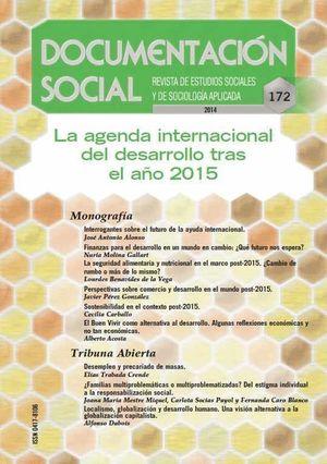 DOCUMENTACION SOCIAL Nº172 AGENDA INTERNACIONAL DESARROLLO 2015