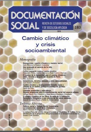 CAMBIO CLIMÁTICO Y CRISIS SOCIOAMBIENTAL