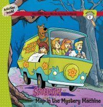 SCOOBY-DOO. MAP IN THE MISTERY MACHINE