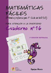 MATEMATICAS FACILES 16 2ª EDICION