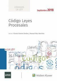 CODIGO LEYES PROCESALES 2018