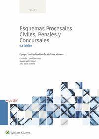ESQUEMAS PROCESALES CIVILES, PENALES Y CONCURSALES (6.ª EDICIÓN)