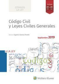 CÓDIGO CIVIL Y LEYES CIVILES GENERALES 2019