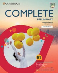 COMPLETE PRELIMINARY STUDENTS BOOK WITH ANSWERS SECOND EDITION ENGLISH FOR SPANISH SPEAKERS B1