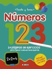 ESCRIBE Y BORRA NÚMEROS 123