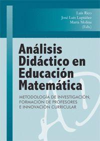 ANALISIS DIDACTICO EN EDUCACION MATEMATICA