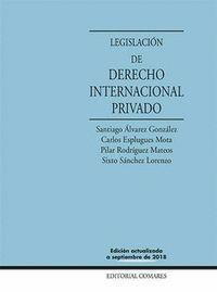 LEGISLACION DE DERECHO INTERNACIONAL PRIVADO 2018