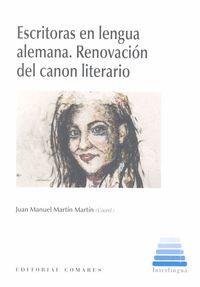 ESCRITORAS EN LENGUA ALEMANA. RENOVACION DEL CANON LITERARIO