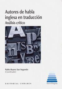 AUTORES DE HABLA INGLESA EN TRADUCCIÓN