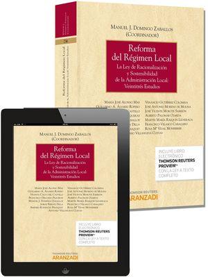 REFORMA DEL RÉGIMEN LOCAL (PAPEL + E-BOOK)