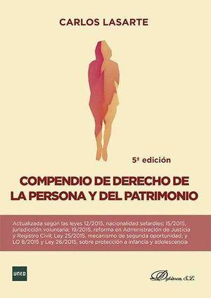 COMPENDIO DE DERECHO DE LA PERSONA Y DEL PATRIMONIO 5ªED.2015