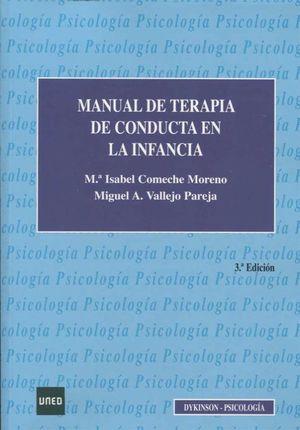 MANUAL DE TERAPIA DE CONDUCTA EN LA INFANCIA