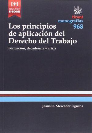 PRINCIPIOS DE APLICACION DEL DERECHO DEL TRABAJO