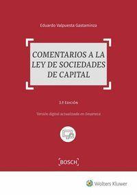 COMENTARIOS A LA LEY DE SOCIEDADES DE CAPITAL (3.ª EDICIÓN)