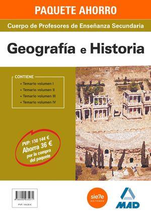 PACK AHORRO GEOGRAFIA E HISTORIA PROFESOR ENSEÑANZA SECUNDARIA