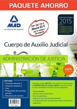PAQUETE AHORRO CUERPO AUXILIO JUDICIAL ADMINISTRACION JUSTICIA