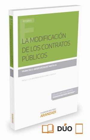 LA MODIFICACION DE LOS CONTRATOS PUBLICOS (PAPEL + E-BOOK)