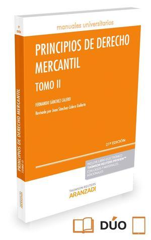 PRINCIPIOS DE DERECHO MERCANTIL - TOMO II (PAPEL+E-BOOK)