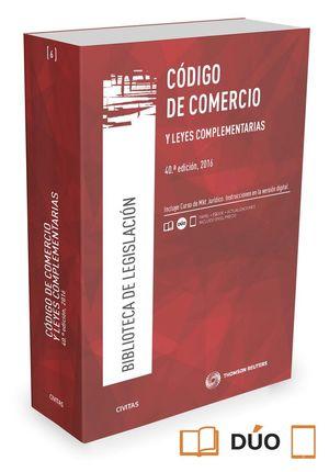 CODIGO DE COMERCIO Y LEYES COMPLEMENTARIAS (40ª ED.) 2016