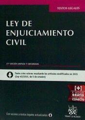 LEY DE ENJUICIAMIENTO CIVIL 27ª EDICION 2015