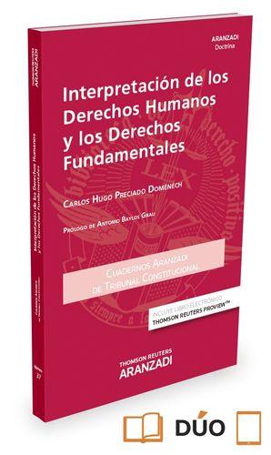 INTERPRETACION DERECHOS HUMANOS Y FUNDAMENTALES