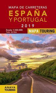MAPA CARRETERAS ESPAÑA Y PORTUGAL 2019