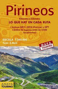 MAPA DE LOS PIRINEOS 1:340.000 -  (DESPLEGABLE)