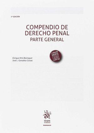 COMPENDIO DE DERECHO PENAL PARTE GENERAL 7ª EDICIÓN 2017