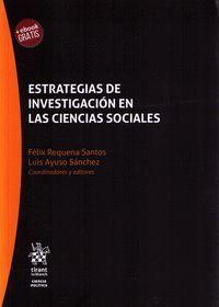 ESTRATEGIAS DE INVESTIGACIÓN EN LAS CIENCIAS SOCIALES.