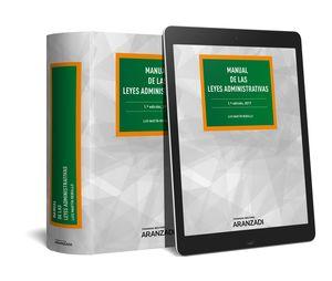 MANUAL DE LAS LEYES ADMINISTRATIVAS (PAPEL + E-BOOK)