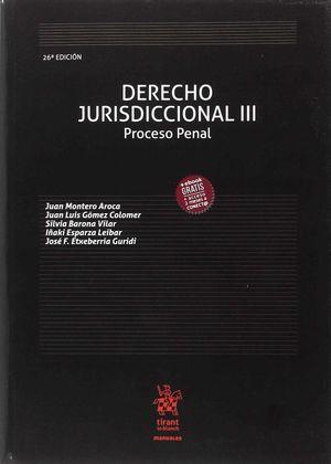 DERECHO JURISDICCIONAL III PROCESO PENAL 26ª EDICIÓN 2018