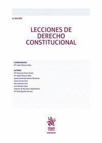 LECCIONES DE DERECHO CONSTITUCIONAL 6ª EDICIÓN 2018