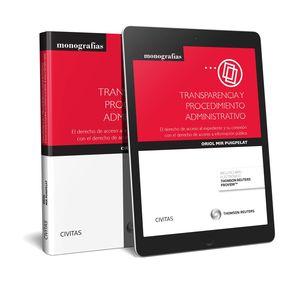 TRANSPARENCIA Y PROCEDIMIENTO ADMINISTRATIVO (PAPEL + E-BOOK)