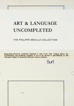 ART & LANGUAGE UNCOMPLETED