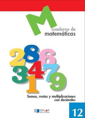 MATEMATICAS BASICAS CUADERNO 12