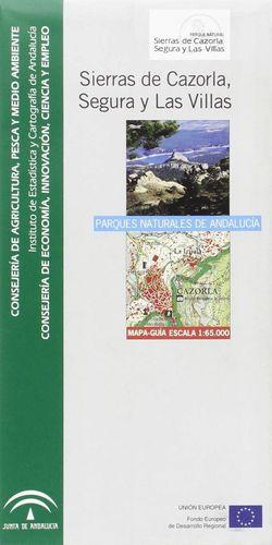 MAPA GUÍA DEL PARQUE NATURAL SIERRAS DE CAZORLA, SEGURA Y LAS VILLAS