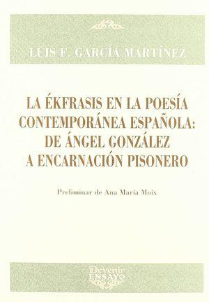 EKFRASIS EN LA POESIA CONTEMPORANEA..