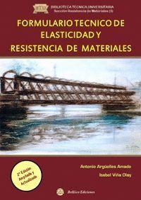 FORMULARIO TÉCNICO DE ELASTICIDAD Y RESISTENCIA DE MATERIALES