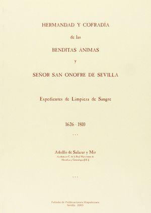 HERMANDAD Y COFRADÍA DE LAS BENDITAS ÁNIMAS Y SEÑOR SAN ONOFRE DE SEVILLA. EXPED